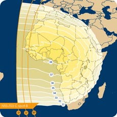 NSS-703 C-band West Africa Beam